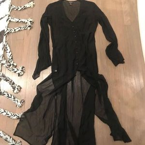 Black sheer duster
